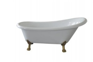 Ванна  акриловая Aksy Bagno. В комплект включены ноги и слив перелив цвет бронза.