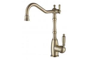 Смеситель для кухни с переключателем на питьевую  воду  TL-18083-bronze