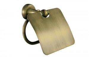 Держатель для туалетной бумаги c крышкой Queen bronze